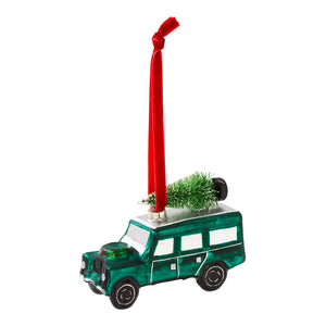 4X4 Car Glass Tree Decoration - Talking Tables UK Public