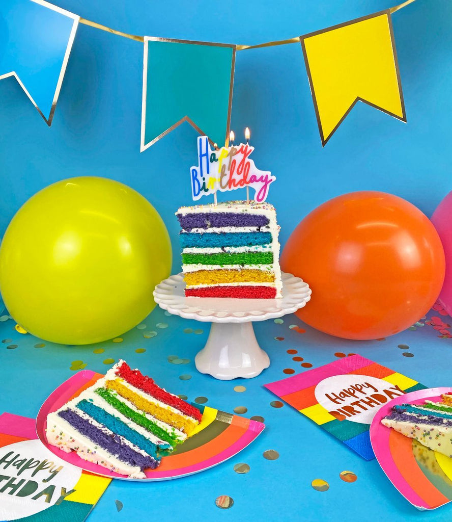 rainbow bunting - Talking Tables