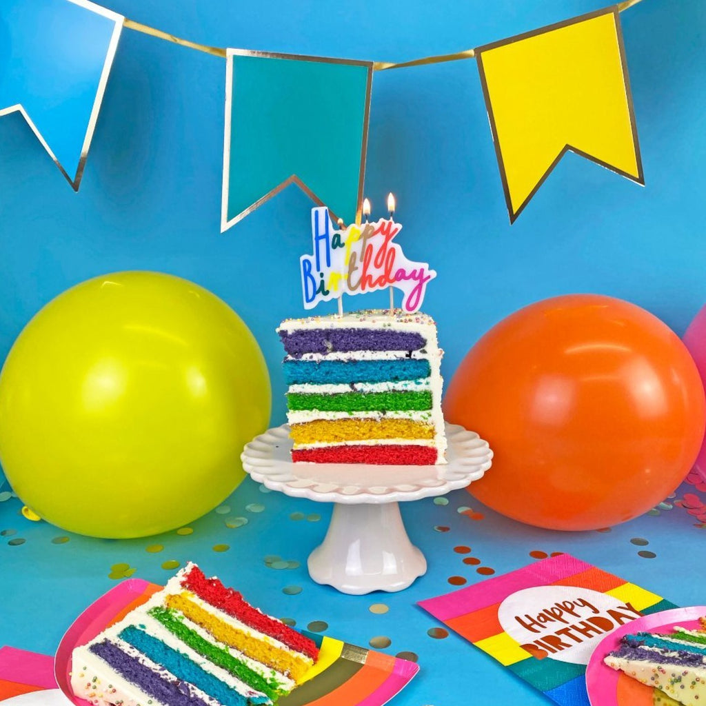 rainbow brights candles - Talking Tables