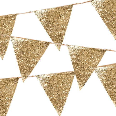 luxe gold glitter bunting - Talking Tables