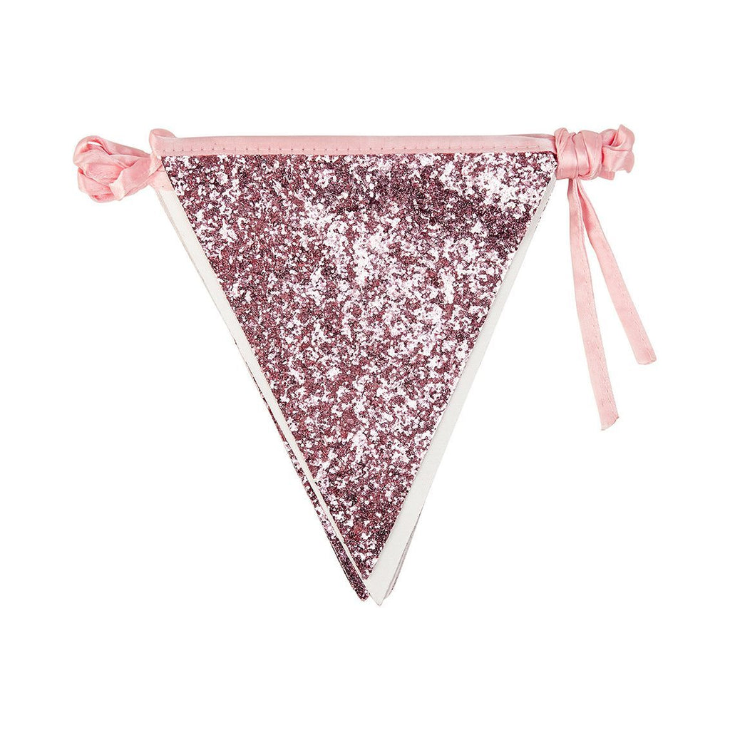 luxe pink glitter bunting 3m - Talking Tables