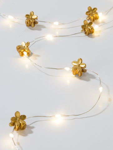luxe gold hair string lights - Talking Tables