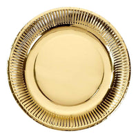 modern metallics gold foil 8 pk 9 inch - Talking Tables
