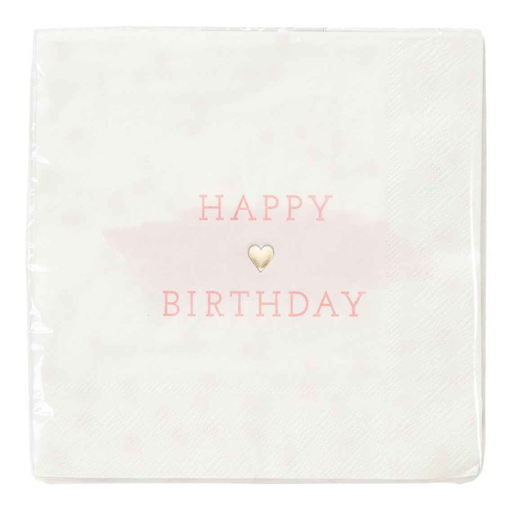 we heart pink 33cm foiled napkin 16 pk - Talking Tables