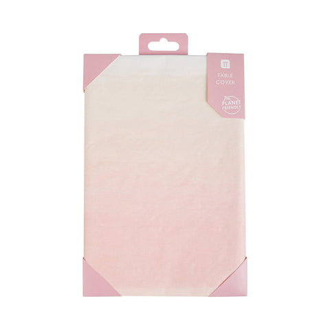 we heart pink paper table cover 180cm x 120cm - Talking Tables