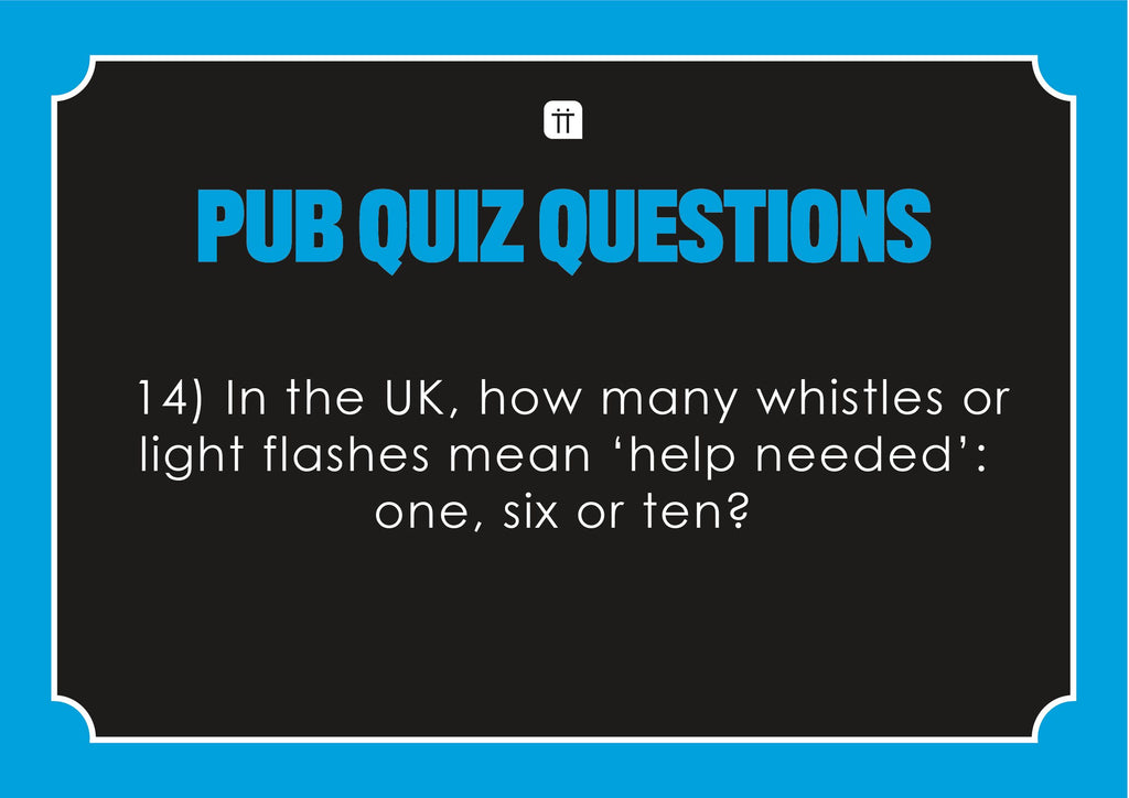 printable pub quiz ii - Talking Tables