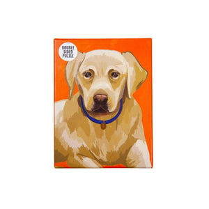 100 piece labrador double sided puzzle - Talking Tables