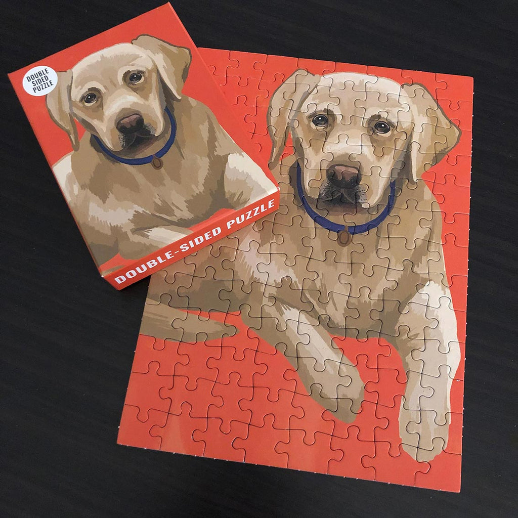 100 Piece Labrador Double-Sided Puzzle