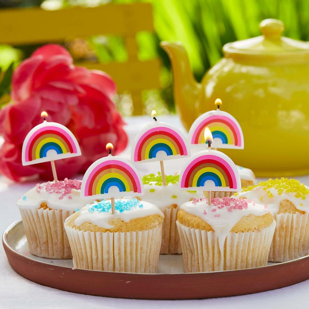 Rainbow Brights Rainbow Shaped Candles - Talking Tables UK Public