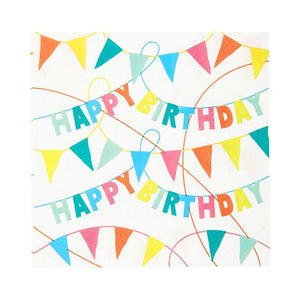 Rainbow Eco Happy Birthday Napkins