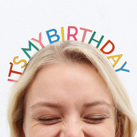 Birthday Brights Rainbow It's My Birthday Headband - Talking Tables UK Public