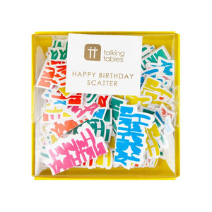 birthday brights rainbow happy birthday scatter - Talking Tables