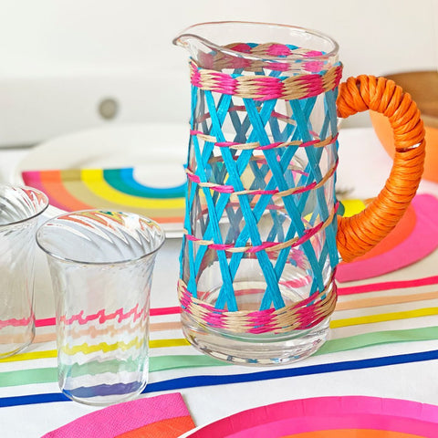 boho spice glass pitcher - Talking Tables