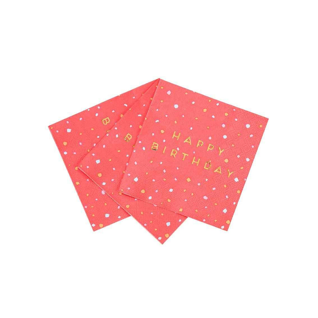 rose cocktail napkins - Talking Tables