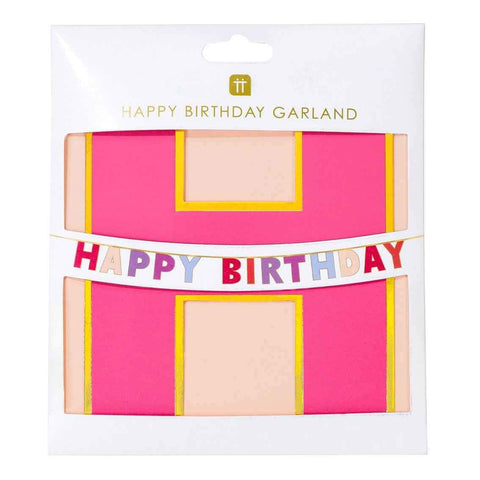 Rose Happy Birthday Garland - Talking Tables UK Public