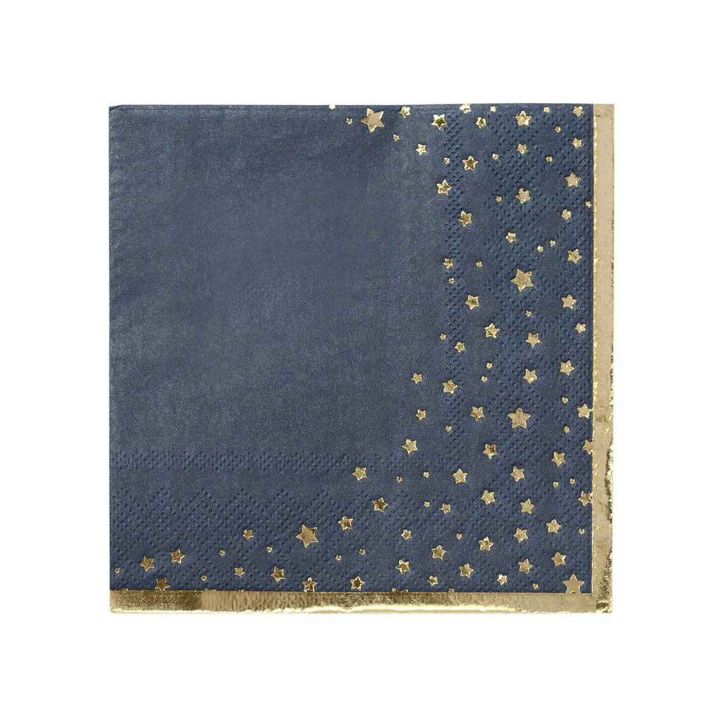 25cm napkin with gold foil 25cm - Talking Tables
