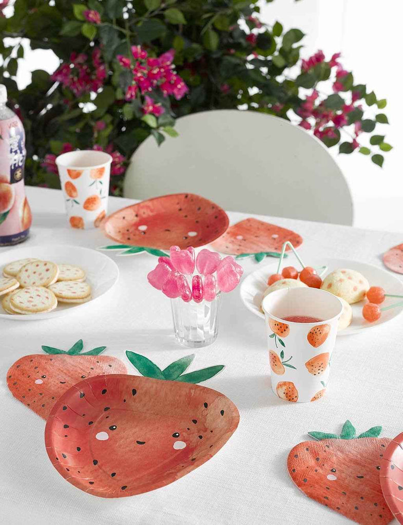 strawberry fields strawberry shaped napkins - Talking Tables