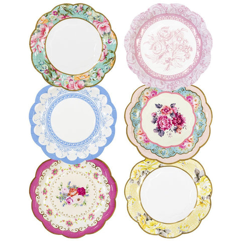 truly scrumptious vintage paper plates - Talking Tables