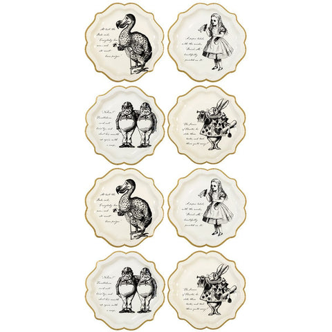 truly alice medium plate pack of 12 - Talking Tables
