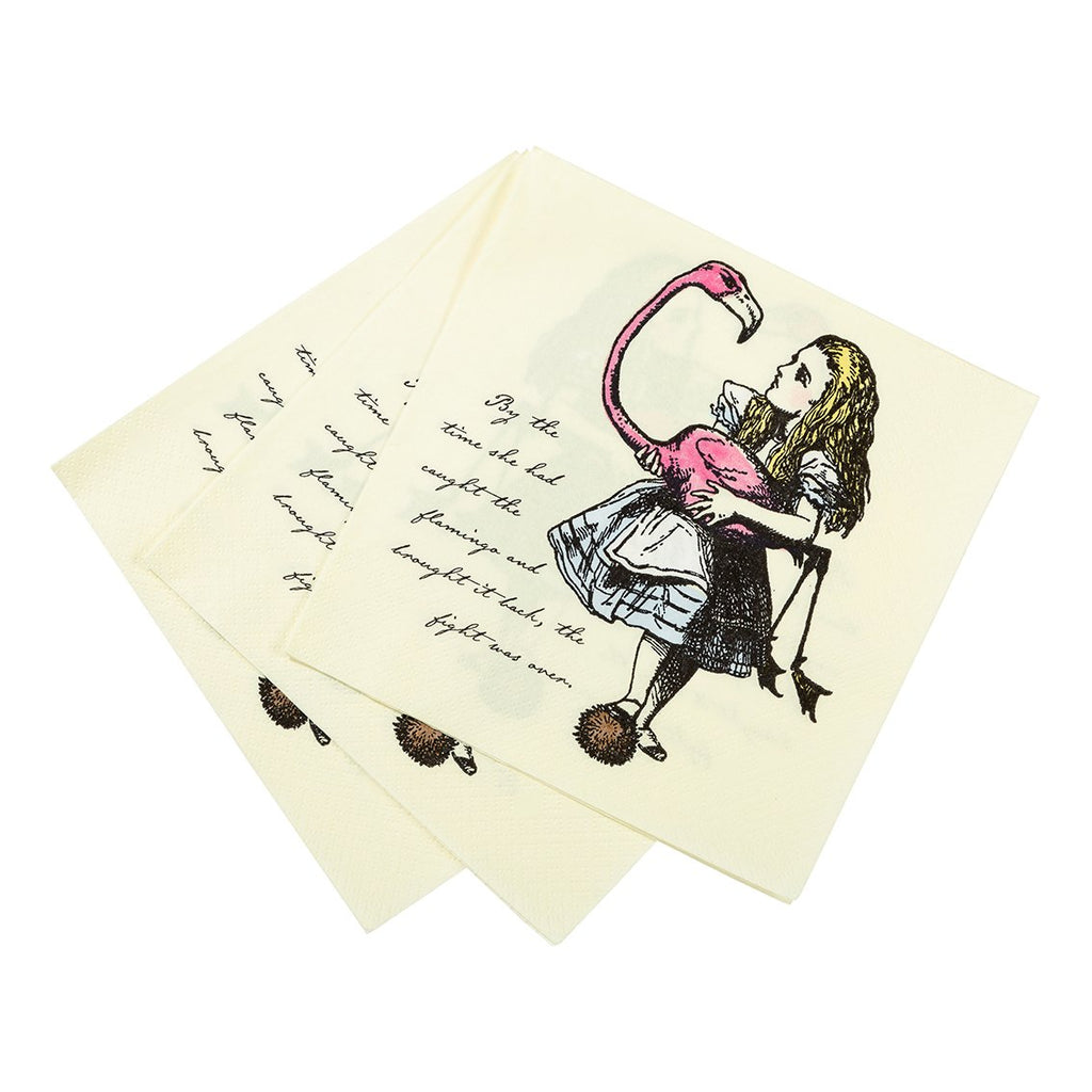 truly alice napkin 33cm pack of 20 - Talking Tables