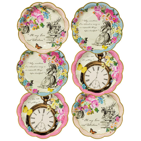 truly alice plate 12pk 2 designs - Talking Tables