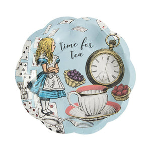 Truly Alice Blue Paper Plates - Talking Tables UK Public