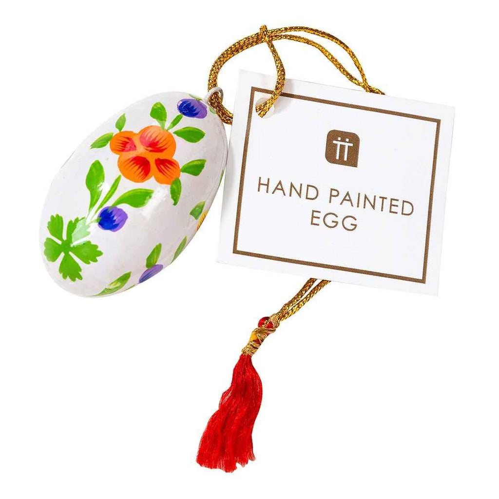 truly bunny hand painted egg 1 - Talking Tables