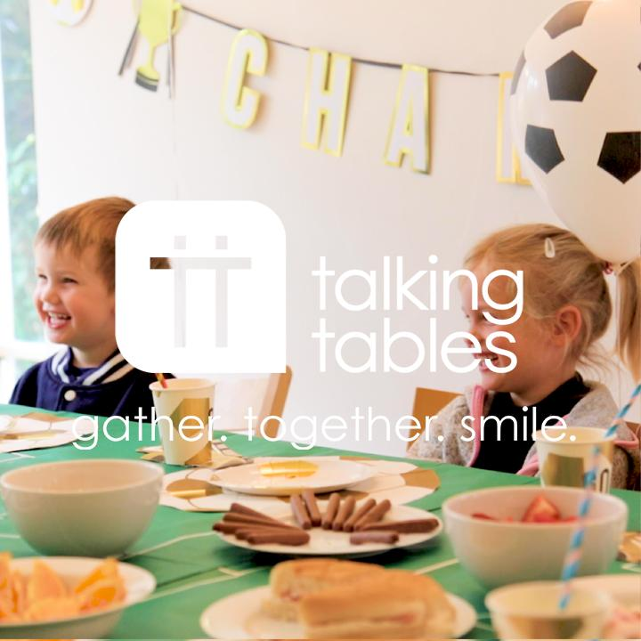 Party Champions Football Shaped Napkins - Talking Tables UK Public