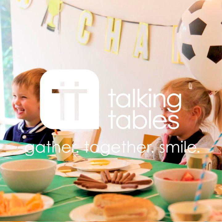 party champions boot shaped napkins - Talking Tables