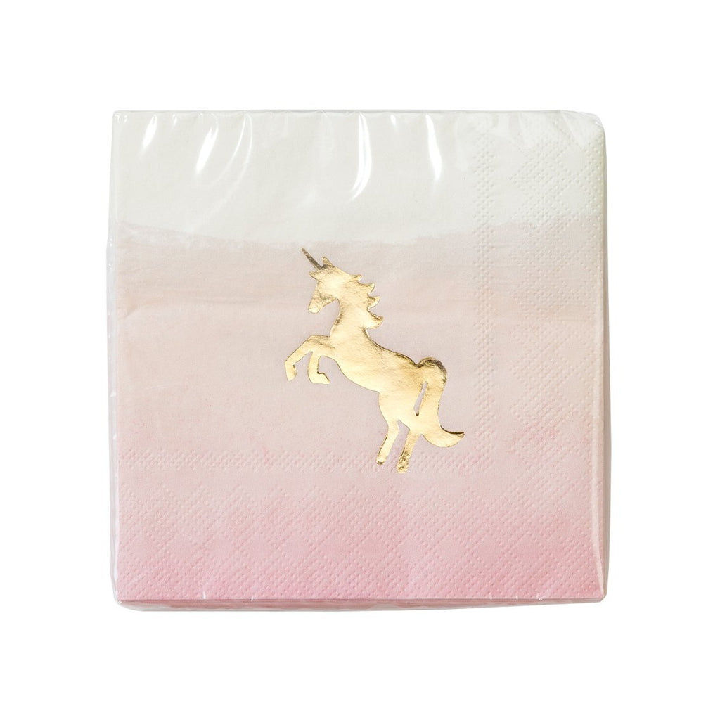 we heart unicorns cocktail napkin - Talking Tables