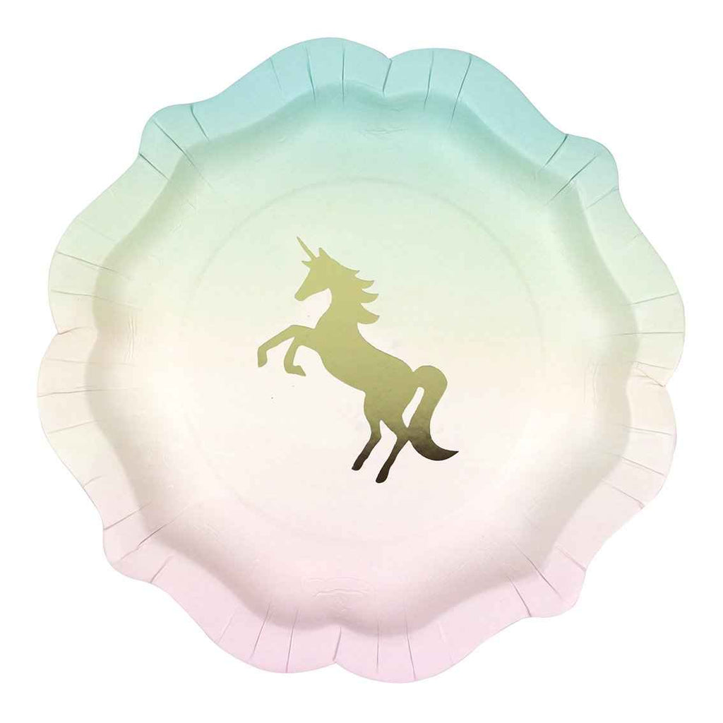 Talking Tables we heart unicorns plate 12pk 1 design