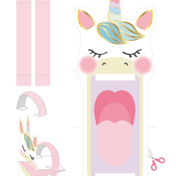 printable we heart unicorn - Talking Tables