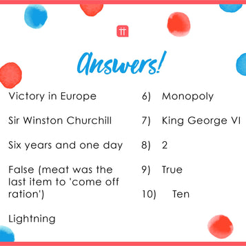 Printable - VE Day Quiz - Talking Tables UK Public