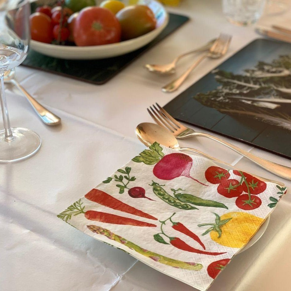 veggie table napkins - Talking Tables