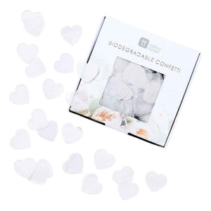 modern romance white confetti - Talking Tables