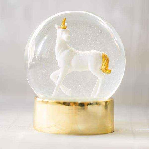 we heart unicorns snowglobe - Talking Tables