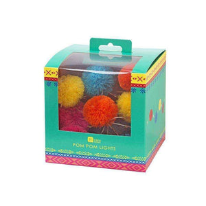 boho mix pom pom lights 2m - Talking Tables
