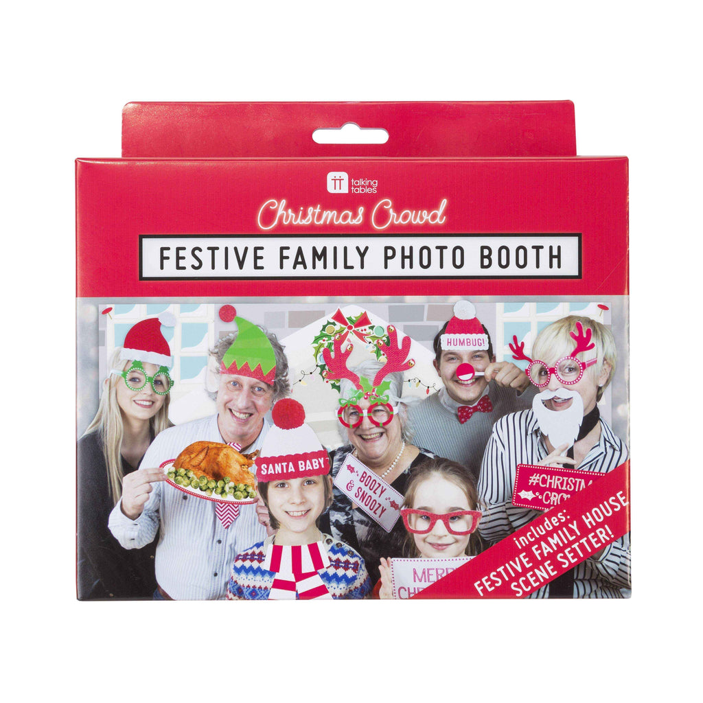 christmas entertainment festive family photo booth with 20 props scene setter - Talking Tables