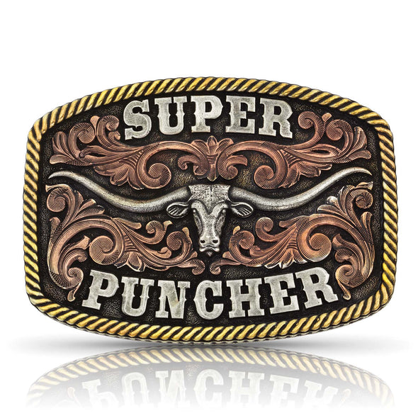 Montana Silversmiths Dale Brisby Super Puncher Longhorn Buckle