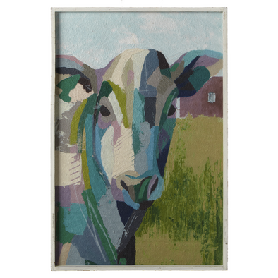 Ganz Framed Painterly Cow Wall Decor