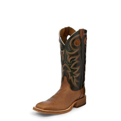 Justin Men's Bent Rail Kerrville Western Boot - Copper