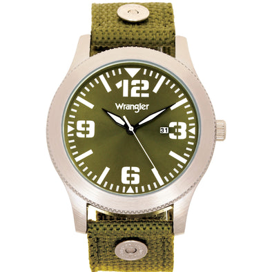 Wrangler 57 MM Green Strap Watch