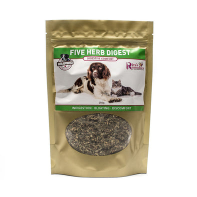 Riva's Remedies Dog & Cat:Five Herb Digest (250g)