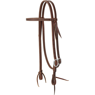 Weaver Leather Working Tack Straight Browband w/Stainless Steel Single Buckle Headstall