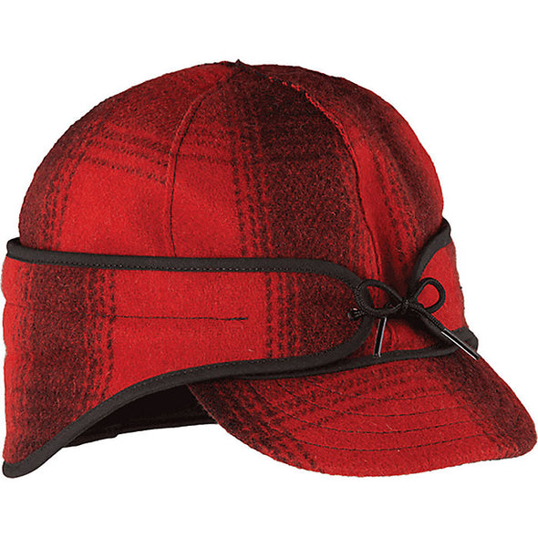 The Rancher Cap Size 7 1/8 Red/Black Plaid