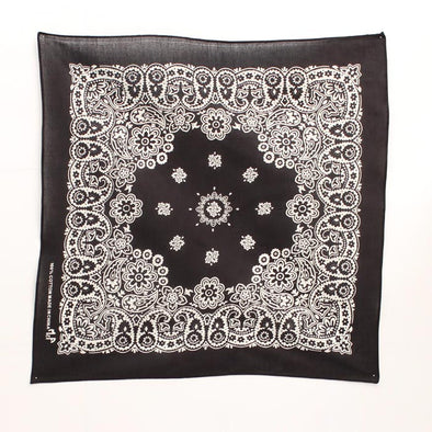 Bandanas Traditional 21x21 Black/White