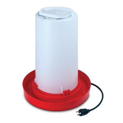 Heated Plastic Poultry Fount 3 Gallon
