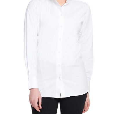 Tuffrider Women's Cotton Starter Long Sleeve Show Shirt - White