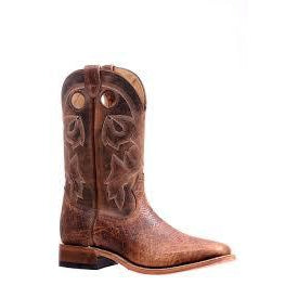 Boulet Men's Western Boot - Bison Shrunken Bomber/Virginia Mesquite - Irvines Saddles