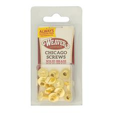 Weaver Chicago Screw Handy Pack, Plain - Solid Brass